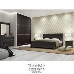 חדר שינה זוגי קומפלט כולל ארון הזזה תואם דגם פלמה תבל