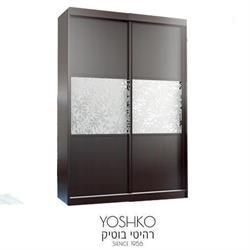 ארון הזזה  בעיצוב מודרני וצעיר! עם מראה קריסטלית + התזת חול לבן מט' דגם tokyo teana