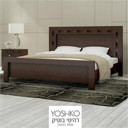מיטה זוגית בעיצוב מרהיב במגוון צבעים דגם TEVEL