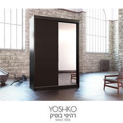ארון הזזה 2 דלתות עם דלת מראה דגם תבל מראה