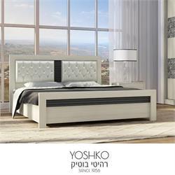מיטה זוגית בעיצוב מרהיב במגוון צבעים דגם hoshen