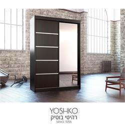 ארון הזזה  2 דלתות עם דלת מראה דגם nis