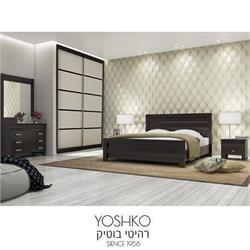 חדר שינה זוגי קומפלט כולל ארון הזזה דגם פלמה יוני