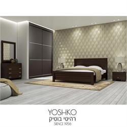 חדר שינה זוגי קומפלט  כולל ארון הזזה דגם סחלב תבל