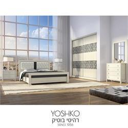 חדר שינה זוגי קומפלט בעיצוב מרשים דגם hoshen