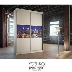 ארון הזזה  2 דלתות בעיצוב מודרני  דגם new york