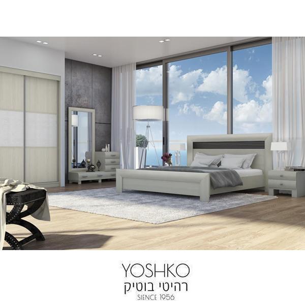 חדר שינה זוגי קומפלט בעיצוב מרשים דגם סבי