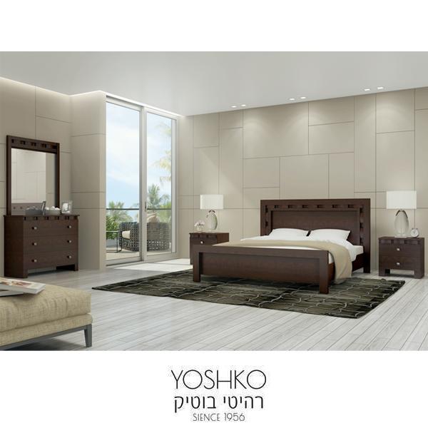 חדר שינה זוגי קומפלט בעיצוב מרשים דגם TEVEL